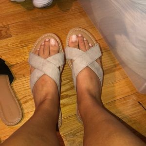 Old navy taupe sandals